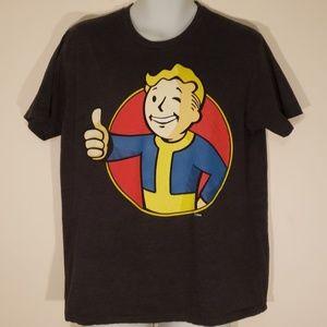 Bethesda Men's Fallout Graphic Gray T-Shirt Size L
